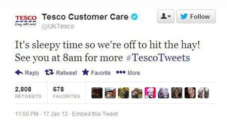 tesco hit the hay tweet
